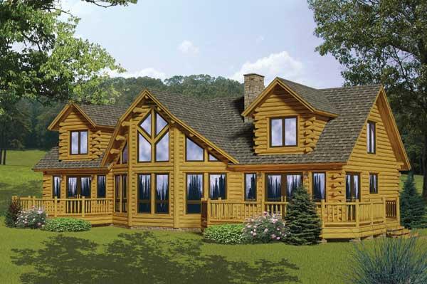 Lakeview Log Home Plan By Katahdin Cedar Log Homes