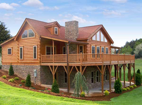 Blowing Rock Ii Log Home Plan By Blue Ridge Log Cabins
