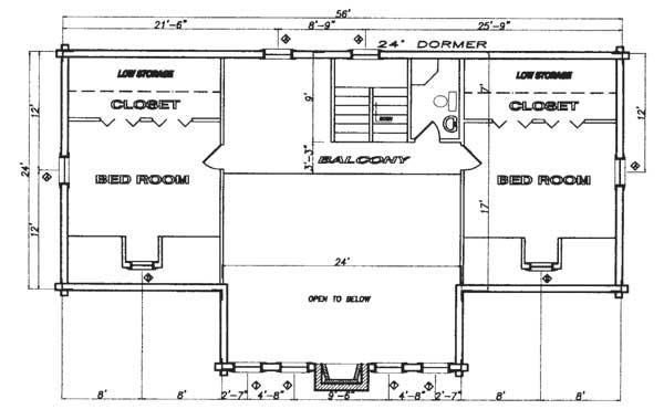Aspen log home plan by north fork lumber log homes for Aspen house plans