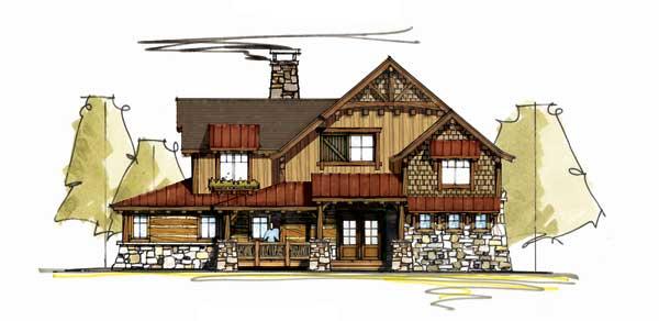 Camas creek cabin floor plan by mosscreek designs for Moss creek house plans