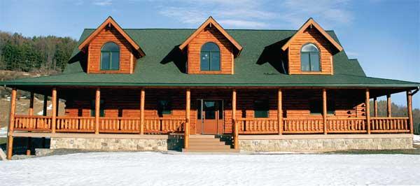 Hunts Mountain Lodge Home Plan By Lok N Logs Inc