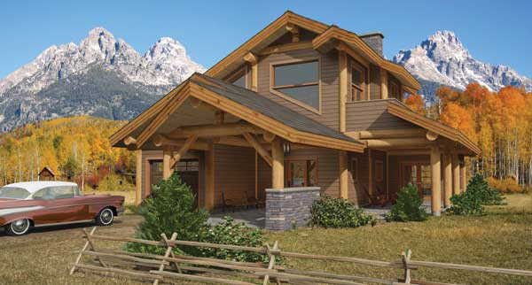 Alpine log home plan by the log connection for Alpine house plans