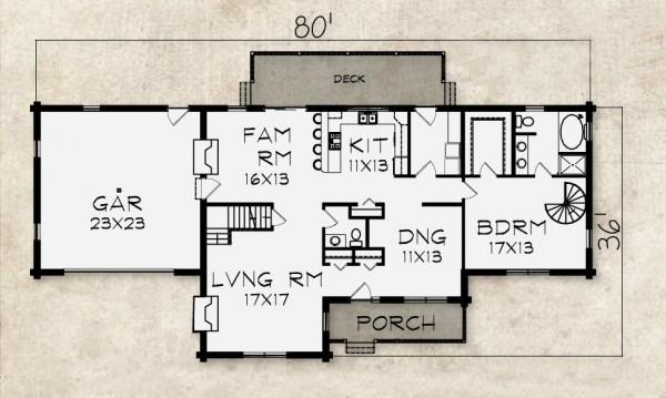 Covington log home plan by beaver mountain log cedar homes for Covington floor plan
