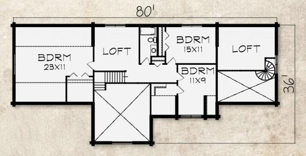 Covington Log Home Plan By Beaver Mountain Log Cedar Homes