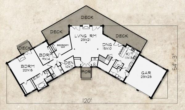 Hunter Mountain Home Plan By Beaver Mountain Log & Cedar Homes