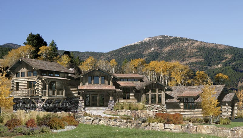 Blue Ridge Lodge Home Plan By Precisioncraft Log Timber