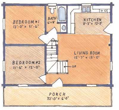 Juniata Cabin Floor Plan By County Log Cabins