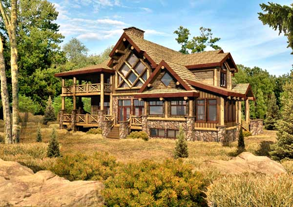 Chambeau Log Home Floor Plan By Wisconsin Log Homes