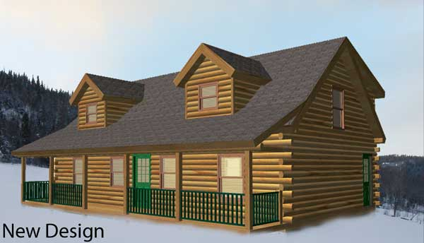 Wyoming Log Home Plan by Coventry Log Homes, Inc.