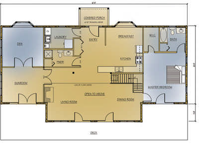 Custom regency log home plan by 1867 confederation for Regency house plans