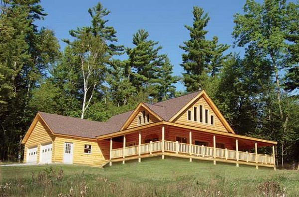 Grand view log home plan by coventry log homes inc for One level log home plans