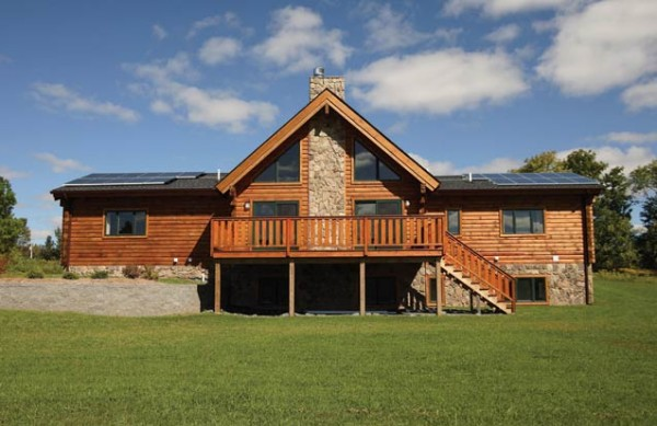 Leed greenbriar log home plan by alta log homes for Leed cabins
