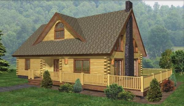 Windham Log Home Plan By Beaver Mountain Log Amp Cedar Homes
