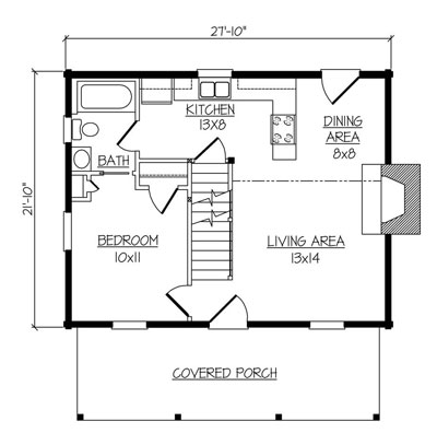 Lake haven log home plan by hearthstone homes for Hearthstone homes floor plans
