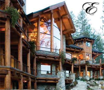 Intricate log home plan by edgewood log structures for 5 structural types of log homes
