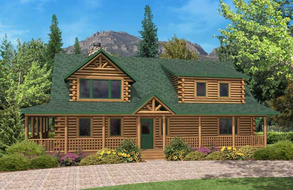 Aspen valley 2 log home plan by golden eagle log homes for Aspen homes floor plans