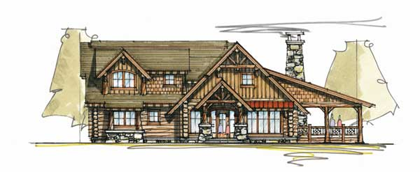 Timberline home plan by mosscreek designs for Timberline homes floor plans