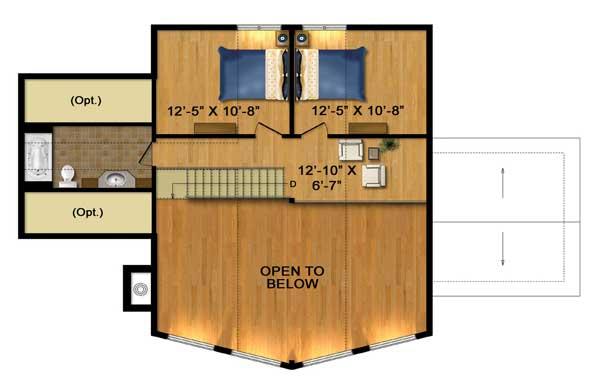 The Dakota Log Home Floor Plan By Timber Block Log Homes