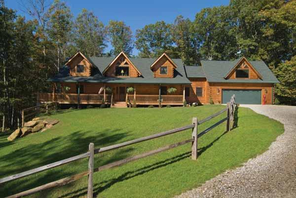 Fairmont Log Home Plan By Appalachian Log Structures Inc