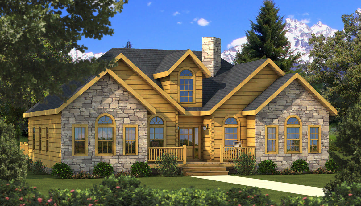 Halifax log home plan by southland log homes for Southland log homes