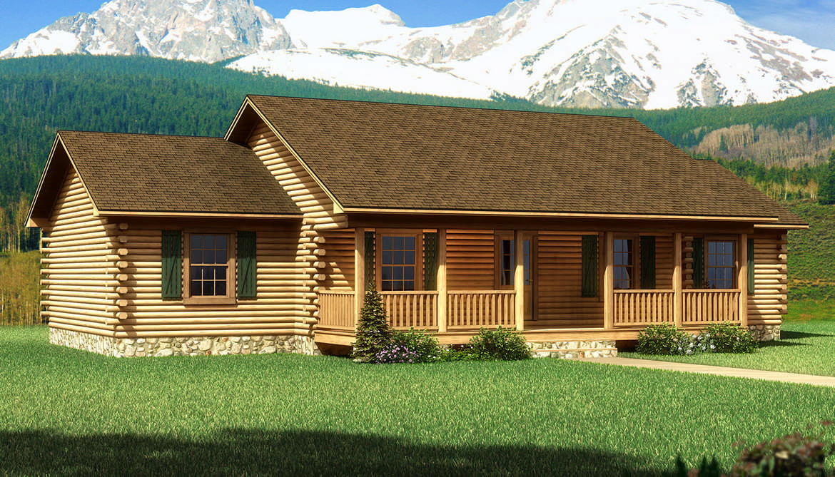 Moss point log home plan by southland log homes for Southland log homes