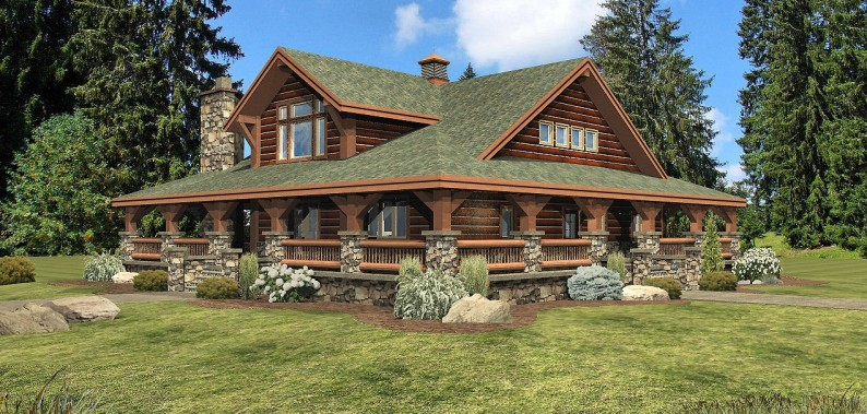 Deerfield Log Home Floor Plan By Wisconsin Log Homes