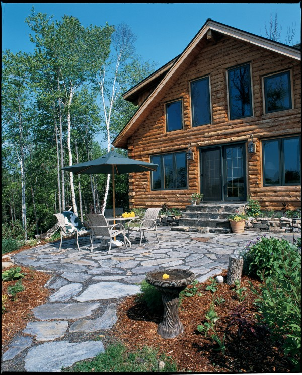 Chisholm home plan by country log homes for Country log home