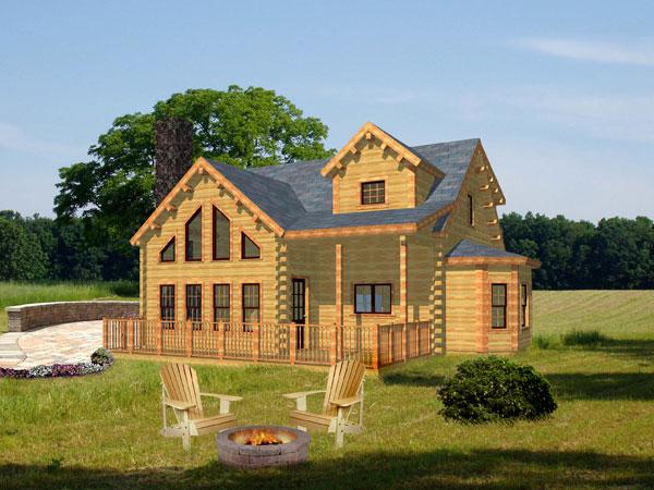 Adirondack Home Plan By Moosehead Cedar Log Homes