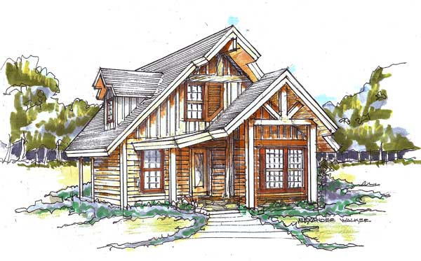 Huck finn camp home plan by natural element homes for Camp house plans