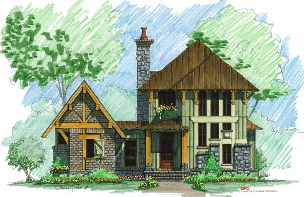 Camp home plan by natural element homes for Camp house plans