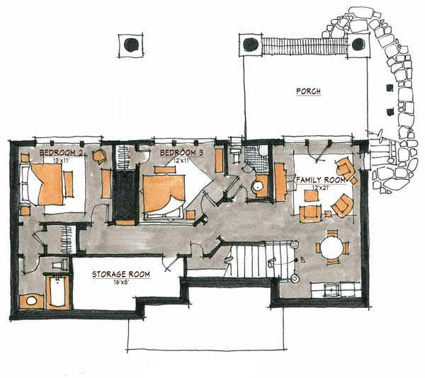 Hoot camp home plan by natural element homes for Camp building plans