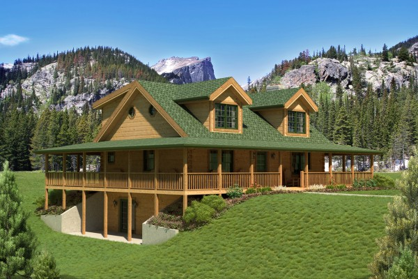 Blue Ridge Home Plan By Countrymark Log Homes