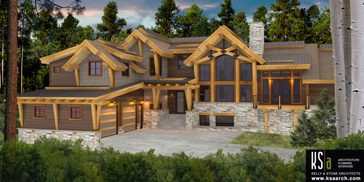Bow River Floor Plan by Canadian Timber Frames, Ltd.