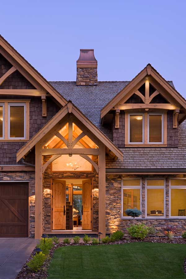 Compact Hybrid Timber Frame Home Design Photos