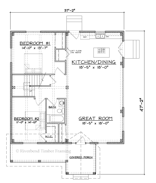 Turnwood Cottage Home Plan by Riverbend Timber Framing - MyWoodHome.com
