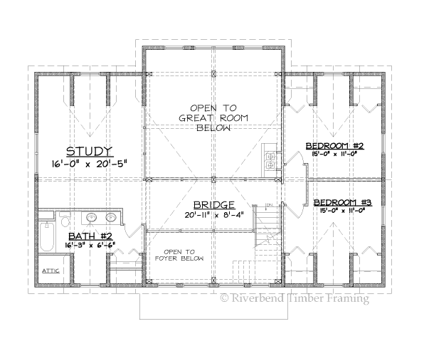 Fairfield Home Plan by Riverbend Timber Framing - MyWoodHome.com