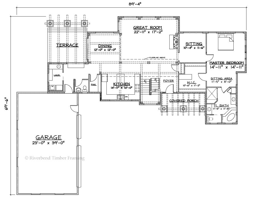 riverbend timber framing lexington home plan