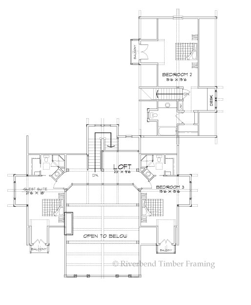 Riverbend Timber Framing: Sonoma Hills Home Plan