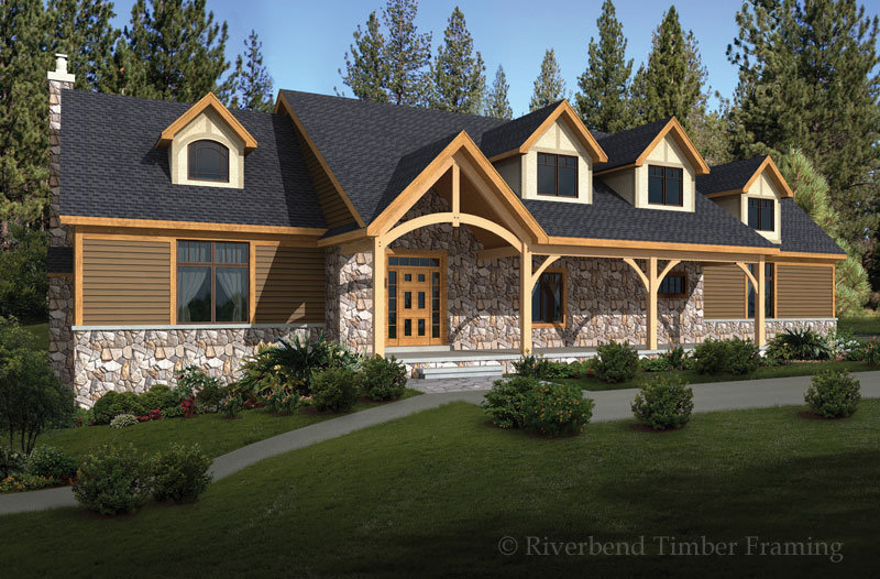 Riverbend Timber Framing Stone Ridge Home Plan