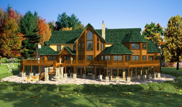 Acadia Home Plan By Golden Eagle Log Homes