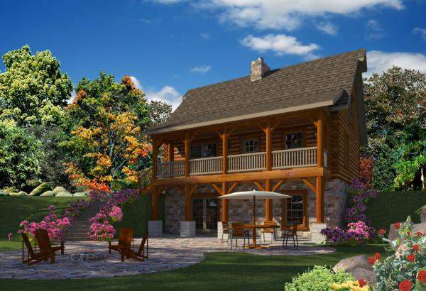 Exterior: Adventure Cabin Floor Plan By Golden Eagle Log & Timber Homes