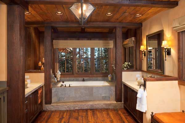 The Fir Flooring In This Luxurious Bathroom ...