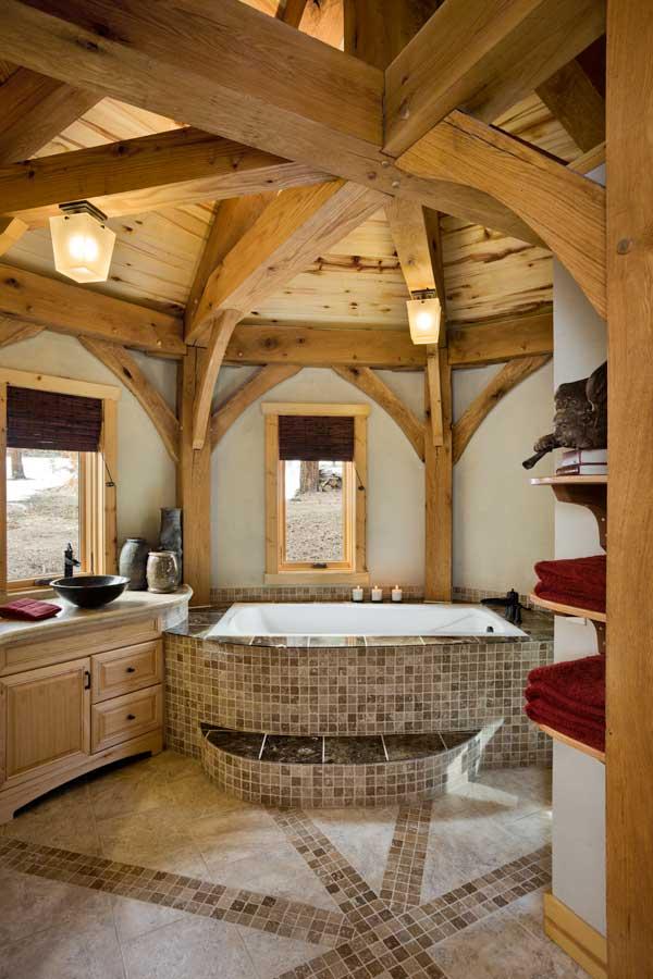 10 Unique Timber Home Bathrooms