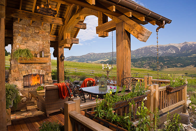 deck is the perfect place to sit and take in the mountain views