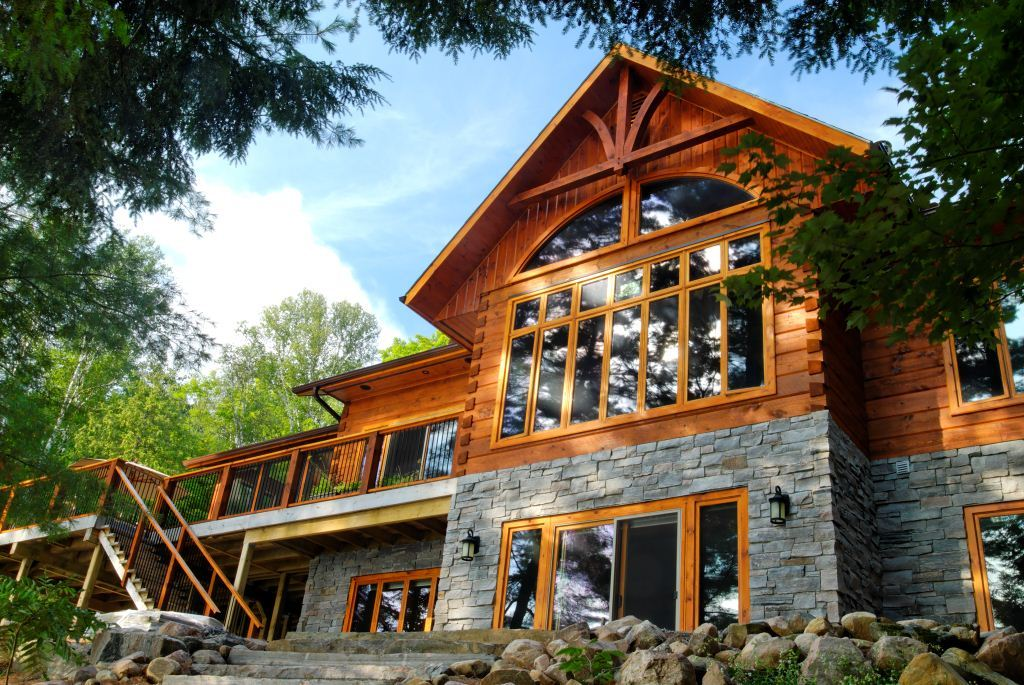 Lake of Bays Log Home Floor Plan by 1867 Confederation