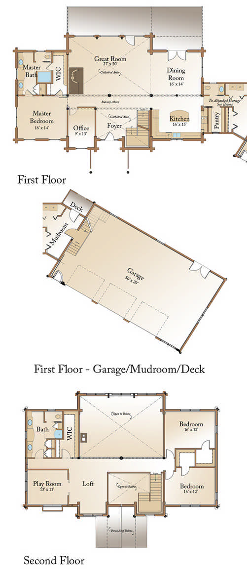 Big River Lodge Floor Plan by Real Log Homes