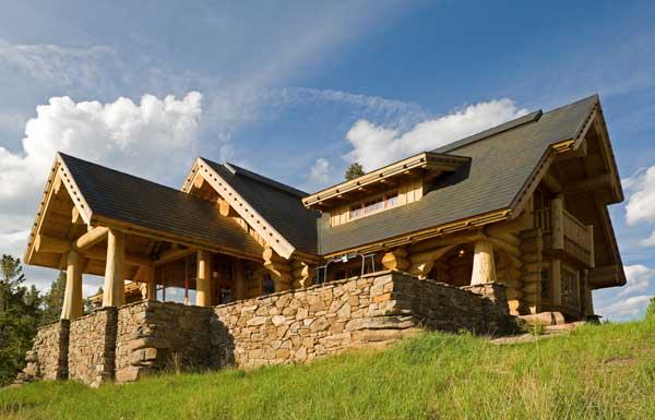 A handcrafted montana vacation log home for Www loghome com