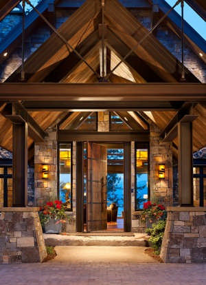 Montana timber frame home