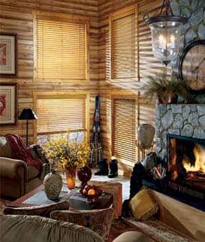 guide to window treatments for log homes