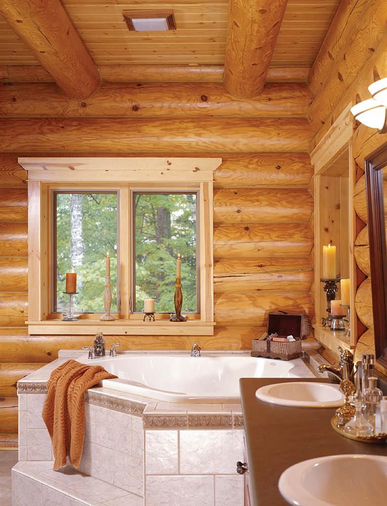 Palazzolo Log Home Plan By Hiawatha Log Homes